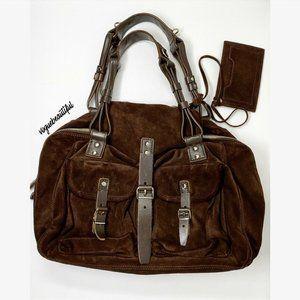 Balenciaga Authentic Brown Suede Shoulder Bag